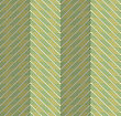 Retro Fold Green Striped Chevron.Abstract Geometrical Ornament. Pattern With Effect Of Folded Paper With Realistic Shadow. Vintage Colored Simple Shapes On Textured Background