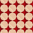 Retro Fold Red Stars.Abstract Geometrical Ornament. Pattern With Effect Of Folded Paper With Realistic Shadow. Vintage Colored Simple Shapes On Textured Background