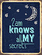 """Retro Metal Sign """" 2am Knows All My Secrets."""", Eps10 Vector Format stock illustration"""