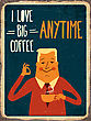 "Retro Metal Sign ""i Love Big Coffee"", Eps10 Vector Format"