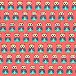 Retro Seamless Pattern With Owls, Vector Illustration