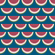Retro Style Seamless Pattern With Watermelon Slices