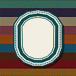 Retro Style Vintage Label Over A Knitted Background