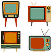 Retro Tv Items Set, Vector Illustration