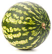 Ripe Watermelon Isolated On White Background Cutout stock photo