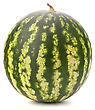 Ripe Watermelon Isolated On White Background Cutout stock image