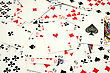 Risk And Gamble . Playing Cards Abstract Background stock photo