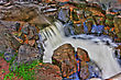 River Rock, Rapids And Water Fall In HDR High Dynamic Range