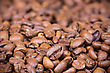 Roasted Coffee Beans Background With Shallow Dof