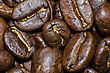 Roasted Coffee Beans Extra Close-up stock image