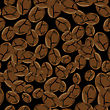 Roasted Coffee Beans, Pattern Background
