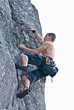 Action Sports Rock Climber stock image
