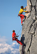 Rock Climbers stock photo