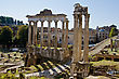 Roman Forum in Rome, Italy stock image