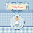 Romantic Baby Boy Shower Card stock vector