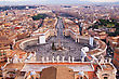 Rome, Italy. Famous Saint Peter's Square In Vatican And Aerial View Of The City. stock photography