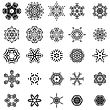 Round Geometric Ornaments Set Isolated On White Background stock vector