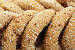 Round Rusks With Sesame Seeads, Closeup Picture