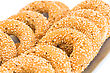 Round Rusks With Sesame Seeads On Tray