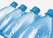 Row of Water Bottles stock photo