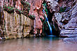 Royal Arch Creek In Elves Chasm, Near The Confluince With The Colorado River, Grand Canyon National Park stock image
