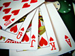 Royal Flush With Hearts - Macro stock photo