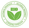 Rubber Stamp Promoting Bio- Natural Products. Ioslated Objects stock illustration