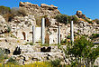 Ruins Of An Ancient Temple Near The City Of Ashqelon, Israel stock photo