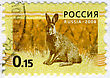 RUSSIA - CIRCA 2008: A Stamp Printed In RUSSIA Showing Hare Bunny Circa 2008.