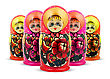 Russian Dolls. Isolated stock image