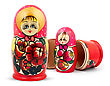 Small Russian Dolls stock photography