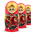 Russian Dolls. Isolated On A White Background stock photo