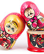 Russian Dolls. Isolated On A White Background stock photography