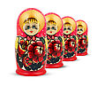 Colored Russian Dolls. stock image