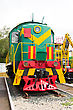 Russian Rail Road Locomotive stock photo