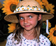child girl sunflowers young people kid stock photography
