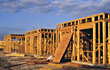 architect building framing contractor housing construction stock photo