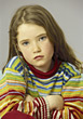 Sad Young Girl stock photo
