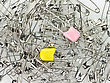 Safety Pins , Close Up For Background stock photo