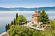 Saint John Monastery In Old Town, Ohrid, Macedonia stock photo