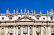 Dated Saint Peter Cathedral. Vatican. Rome. Europe. stock photo