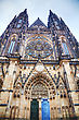 Saint Vitus Cathedral Close Up In Prague stock photography