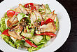 Salad Of Smoked Eel, Lettuce,Chinese Cabbage And Vegetables