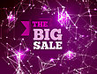 Sale Triangle Background. Vector Illustration With Dot And Line Connection