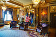 SALT LAKE CITY - May 2, 2014: Utah State Reception Room (Gold Room) In State Capitol Building On May 02, 2014 In Salt Lake City. It's Used For Important State Functions And Is Adorned With French, Sco