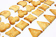Salty Crackers Of The Various Geometrical Form Lie stock photo