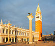 San Marco Square In Venice, Italy Early In The Morning stock photography