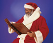 Santa Claus Reading Book stock image