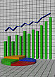 Schedule The Histogram Showing Lifting And Business Blossoming stock image