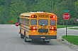 School Bus Breaking for Stop stock photography